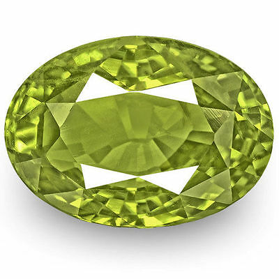 8.08-Carat Exclusive GIA-Certified Natural Oval-Cut Yellowish Green Alexandrite