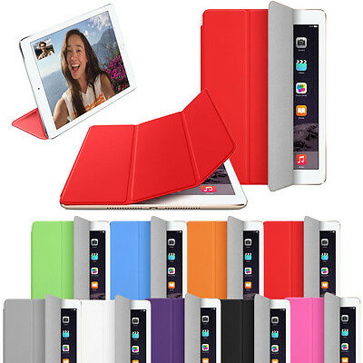 Fashion Compact Magnetic Slim Leather Smart Stand Cover Case Skin For iPad Air 2