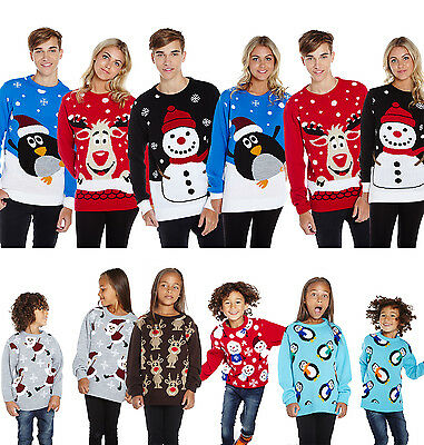 Kids Christmas Jumper Buy 1 Get 1 Free Childrens Winter Holiday Season Sweater