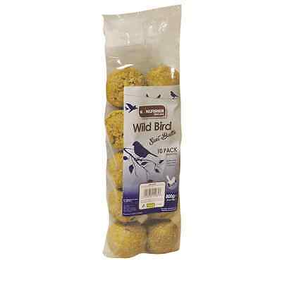 10 Pack Of Suet Un-Netted Fat Balls Wild Bird Food 1, 2 Or 4 Packs Great Value!