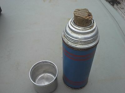 Vintage Mini Keapsit Cork Stopper Thermos Bottle Old Lunch Metal Small Tiny