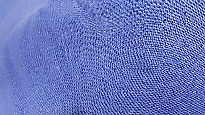 """Vintage Gorgeous Linen Flax Periwinkle Blue Fabric X 58"""" Wide PRICE PER YARD"""