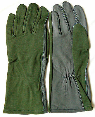 Aviation Flight Flying Pilot Style Racing Heat Resistance Nomex & Leather Gloves
