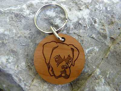 Personalised Dog Keyrings : Huge choice of dogs & breeds: Wooden key ring