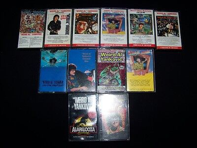 Cassette Weird All Yankovic 12 lot tapes Alapalooza Off Deep End Dare Stupid +