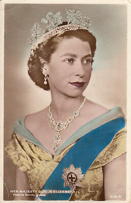 ANGLETERRE ENGLAND her malesty quenne ELIZABETH II photo Dorothy Wilding stamped