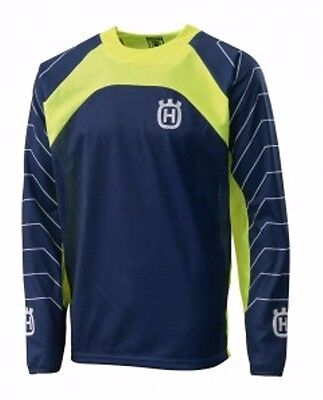 New Husqvarna Railed Jersey Blue Offroad Mx Enduro Men's Jersey $34.99!
