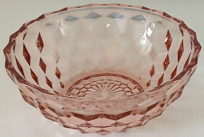 """Jeanette Glass - Pink - Cube / Cubist - Salad Bowl - 6 1/2"""""""