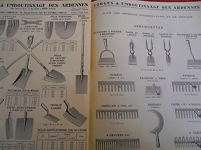 catalogue de forges - outillages jardins -  Ardennes 08 ( ref 16 )