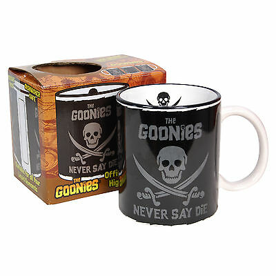 GOONIES MUG - Never Say Die - Pirate Flag Cup Logo Chunk Sloth - HOME KITCHEN