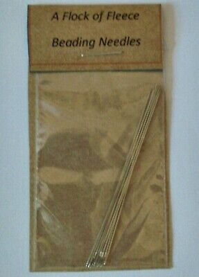 PACK OF 10 BEADING NEEDLES 55 mm FOR SEED BEADS+THREADING HOOK BEAD NEEDLE CRAFT