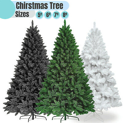 5 6 7 Ft White Green Black Artificial Christmas Tree 150/180/210cm Standing Foot