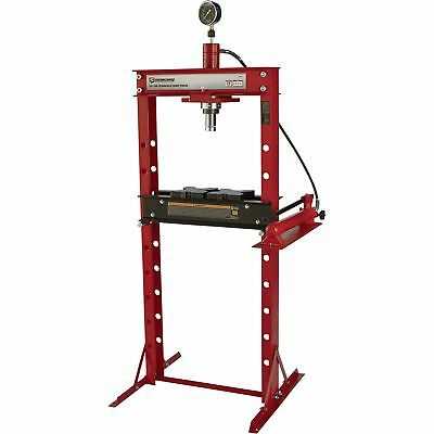 Strongway Hydraulic Shop Press with Gauge - 20-Ton Capacity