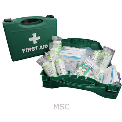 First Aid Kit HSE Approved 1-10 Person Kit For Work Home Car Boat With Hard Case