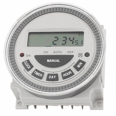 AC200-250V 50/60Hz SPDT LCD Digital Display Time Relay Switch Programmable Timer