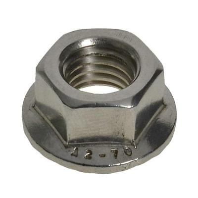 Qty 10 Hex Serrated Flange Nut M6 (6mm) Stainless Steel SS 304 A2 70