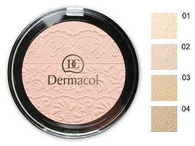 DERMACOL COMPACT PRESSED POWDER WITH LACE RELIEF 8g MATTIFYING FACE SKIN NATURAL
