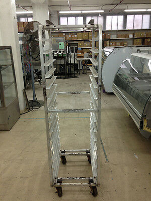 Used End Load 14 Pan Welded Bakery Rolling Oven Rack