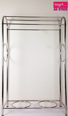 Stainless Steel Stand Towel Rack Bathroom Accessories Round Bottom Shelf LY95R