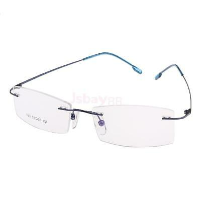 Men Women's Rimless Glasses Optical Eyeglasses Spectacles Ultralight Metal Frame