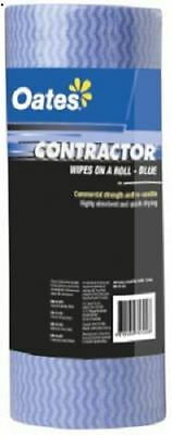Oates - CLR-050 - Contractors Wipes on a Roll - 50 per roll - Blue