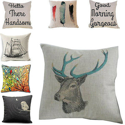 Sweet Cotton Vintage Linen Cushion Cover Throw Pillow Case Home Decoration New