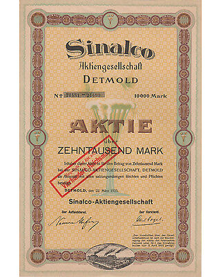 Sinalco AG 10000RM 03/1923