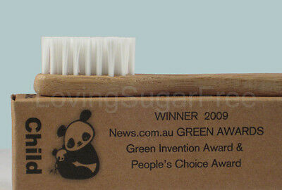 The Environmental Bamboo Toothbrush * 6 x Child Size  * ECO FRIENDLY *Fast Ship