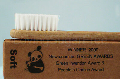 The Environmental Bamboo Toothbrush * Adult Soft x 12 * ECO FRIENDLY *Fast Ship