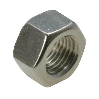 """Qty 5 Hex Full Nut 3/8"""" UNF Imperial Stainless Steel SS 304 A2 70"""