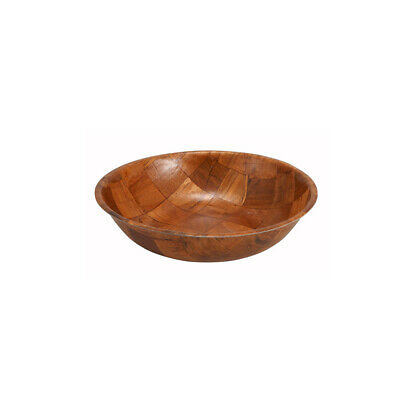 Winco WWB-8, 8-Inch Woven Wood Salad Bowl