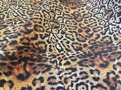 Panther Leopard Cotton Fabric Animal Print Curtains Dress Material -150cm wide