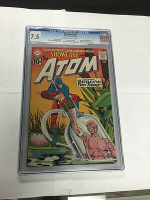 Showcase 34 Cgc 7.5 Ow/W Pages! 1St Atom And Origin