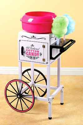 Electric Commercial Cotton Candy Maker Machine Cart Kit Store Booth Vintage Tool