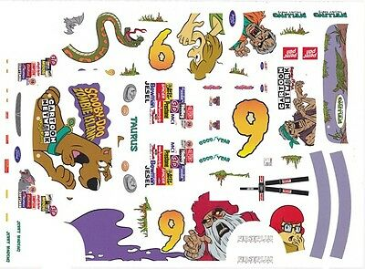 #9 Jerry Nadeau Zombies Cartoon Network 1/24th - 1/25th  Waterslide Decals