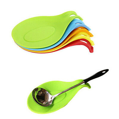 Kitchen Silicone Heat Resistant Cooking Spoon Holder Utensils Tool Accessories