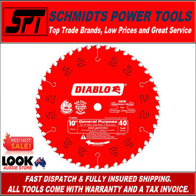 """FREUD D1040X DIABLO 40T 10"""" 255mm ATB MITER SAW & TABLE SAW BLADE 40 TOOTH NEW"""