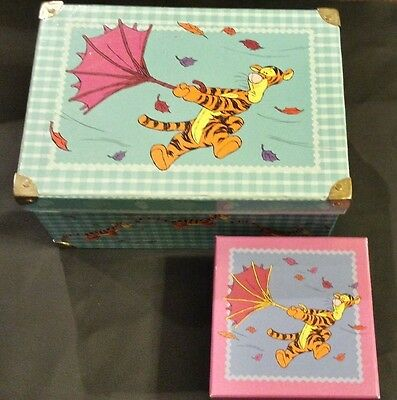 Disney Tigger's Windy Day Storage/Gift Box and Trunk set of 2
