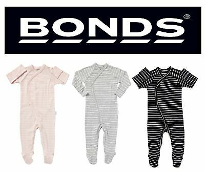 New BONDS BABY COVERALL Pink Navy Grey Button Wondersuit Grey Pink Navy Floral
