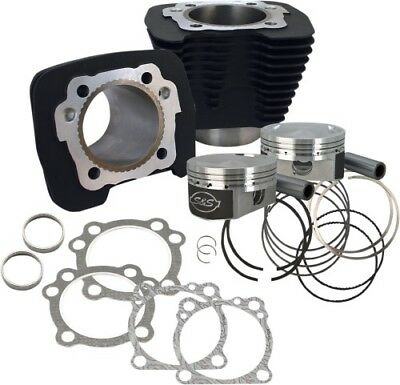 S S Cycle Silver 1250cc Conversion Kit Black 10.3:1CR Sportster XL 910-0443