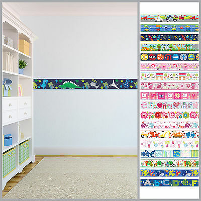 Wallpaper Borders Children's Kids Nursery Boys Girls Bedroom Wall Self Adhesive