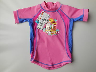 NEW Bright Bots baby girl rash top bathers UPF 50+ size 0 Fits 6-12m RRP $32.95