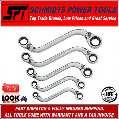 Gearwrench S-Shape Metric Ratcheting Wrench Set Reversible Spanner Set 5Pc 85299