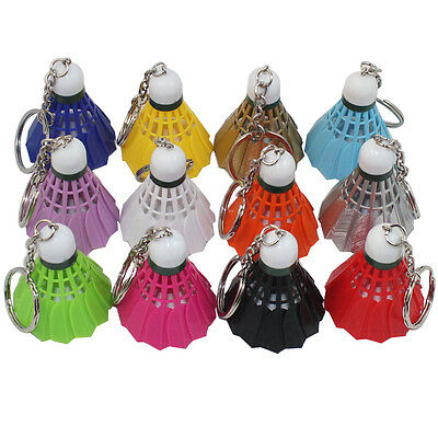 1 x Badminton 12 Colors Keychain Men Women bag Charm Pendant Shuttlecock Keyring