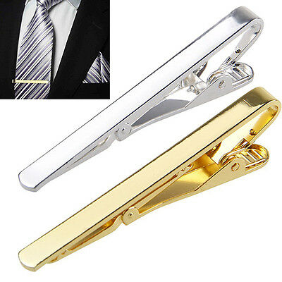 Elegant Fashion Men's Metal Simple Necktie Tie Bar Clasp Clip Clamp Pin