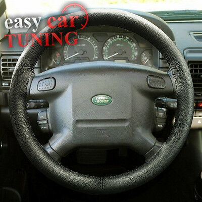 Land Rover Discovery 1 1989-1998 Black Real Genuine Leather Steering Wheel Cover