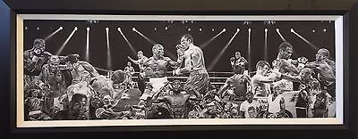 """Official Floyd Mayweather Painting 30"""" Framed Canvas Boxing Print by Hobrecht"""