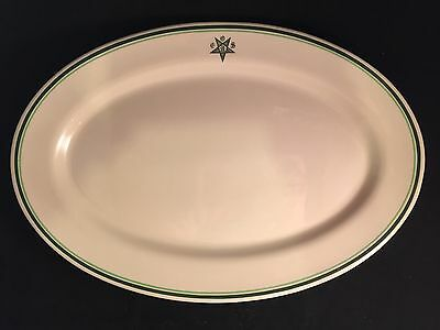 """IROQUOIS CHINA OVAL 15"""" PLATTER OES RESTAURANT MASONS EASTERN STAR Excellent"""