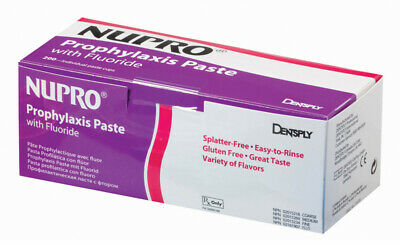 NUPRO Prophy Paste w/Flouride - Medium, 200 Cups Orange by DENTSPLY CLEARANCE !!