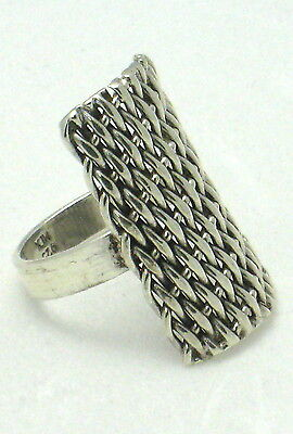 MARVELOUS MEXICAN Sterling Silver Size 9.5 MESH DESIGNED Ring N318-K